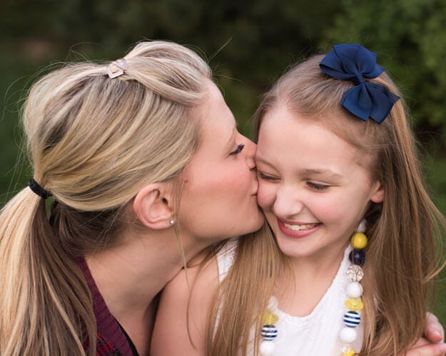 Family Photography | Memories with Family Photography | Mother Kissing Daughter