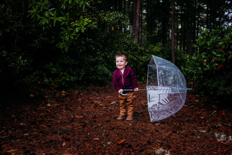 Children Photography - Children Photographer - Boy with umbrella
