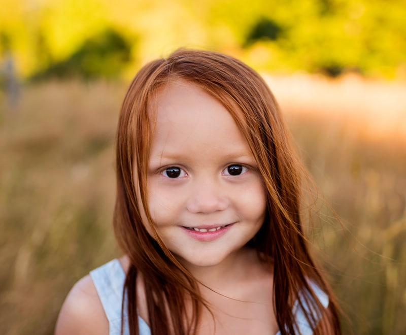 Children Photography - Children Photographer - Girl with red hair